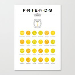 Tribute to Friends: Season 2 Canvas Print