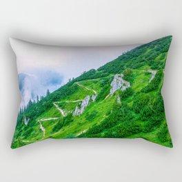 The steep path on the mountain Rectangular Pillow