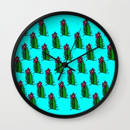 Hedgehog Cactus Wall Clock