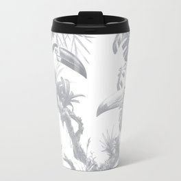 Toucans and Bromeliads - Sharkskin Grey Travel Mug
