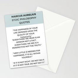 Stoic Philosophy Quote by Marcus Aurelius Stationery Cards