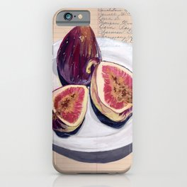 Figs on a Plate in Gouache iPhone Case