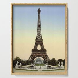 Eiffel tower 1- in 1900 Serving Tray