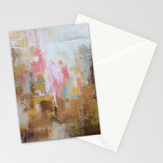 Pink and Brown Abstract Art Stationery Cards