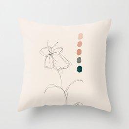 A Floral Palette Throw Pillow
