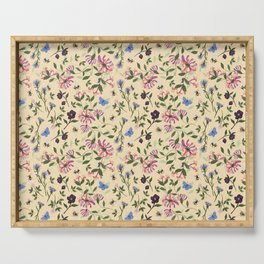 Honeysuckle, Bees and Hellebore Pattern Serving Tray