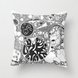 Circled circle Throw Pillow