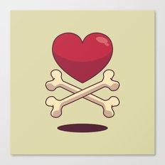 bone up on love Canvas Print