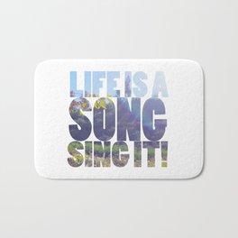 Life is a Song Bath Mat