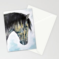 Horse in blue Stationery Cards