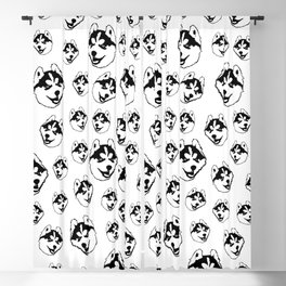 HUSKY DOG LOVERS ,CHRISTMAS GIFT WRAPPED Blackout Curtain