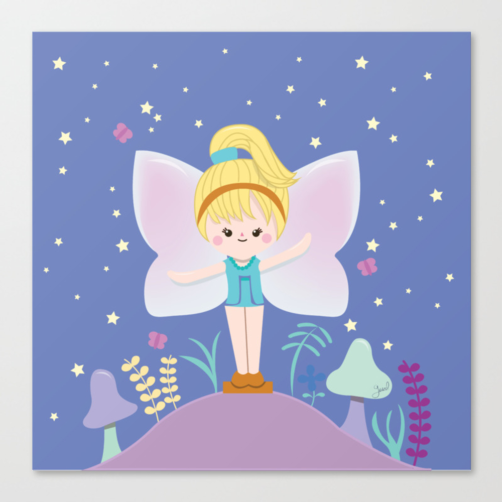 Polly Pocket Fairy 2 Canvas Print by Guzel CNV8869563