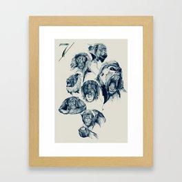 Seven Monkeys Framed Art Print