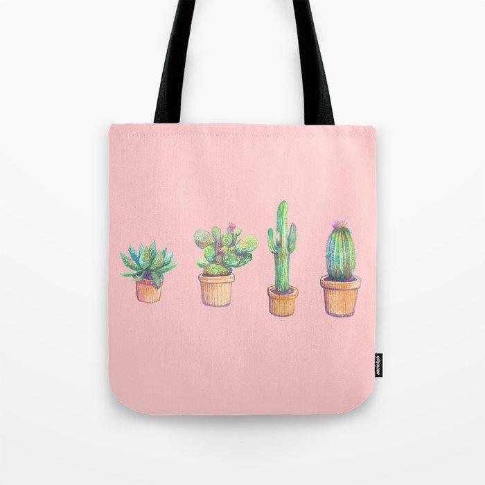 four cactus Tote Bag
