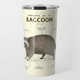Anatomy of a Raccoon Travel Mug