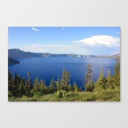 Crater Lake Vista Canvas Print