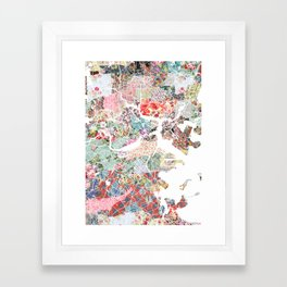 Boston map portrait Framed Art Print