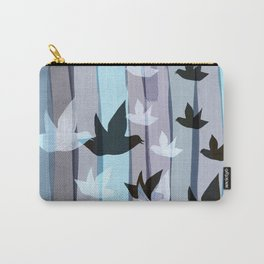 Flying birds in the wood Carry-All Pouch