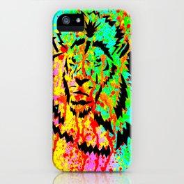 Gold Lion Grr iPhone Case