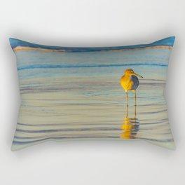 Wet Sand Sandpiper Rectangular Pillow
