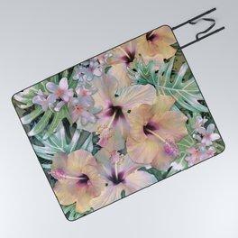 Vintage Tropical Picnic Blanket