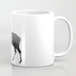 Elk Snowing Forest Coffee Mug