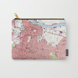 Vintage Map of Savannah Georgia (1955) 2 Carry-All Pouch