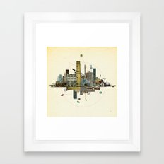 Collage City Mix 8 Framed Art Print