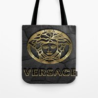 versace Tote Bags featuring versace 2 by Beauti Asylum