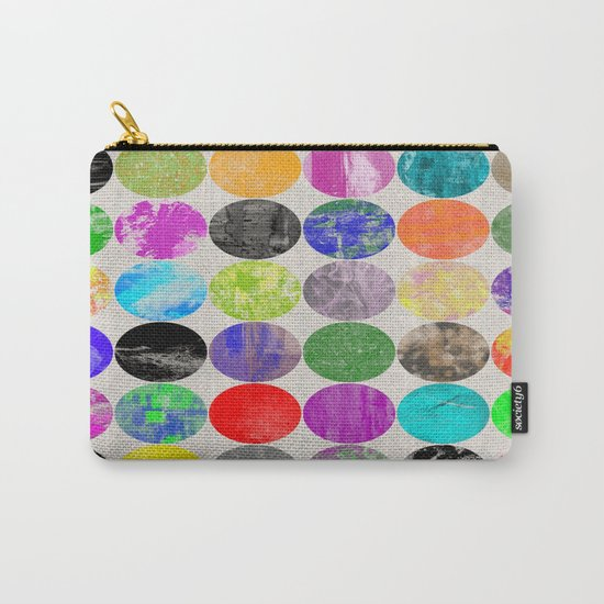 36 Textures - Multi Coloured, Multi Patterned, Multi textured Canvas Painting Carry-All Pouch