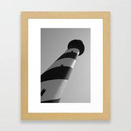 Ocracoke Lighthouse at an Angle Framed Art Print
