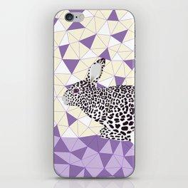 Cute Purple Pastel Rabbit Leopard Pattern Design iPhone Skin