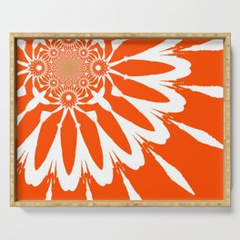 The Modern Flower Orange Serving Tray