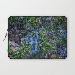 Blue Flowers at the Top of the World Laptop Sleeve