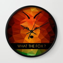 What the fox ? - color Wall Clock