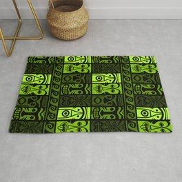 Palm Green Tikis! Rug