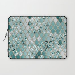 Mermaid Glitter Scales #3 #shiny #decor #art #society6 Laptop Sleeve