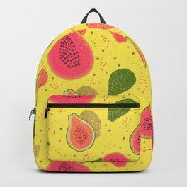 Jumpy Papayas - Tropical Orange on Yellow Backpack
