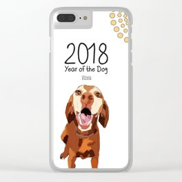 Year of the Dog - Vizsla Clear iPhone Case