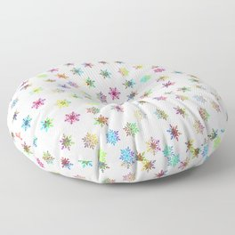 Snowflakes snow winter ice cold Floor Pillow