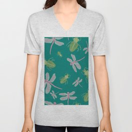 Dragonflies and Bugs Unisex V-Neck