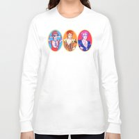 bowie Long Sleeve T-shirts featuring Bowie by Jessica Fink