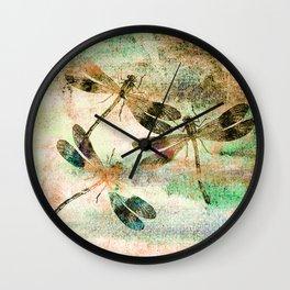 Mauritius Vintage Dragonflies QR Wall Clock