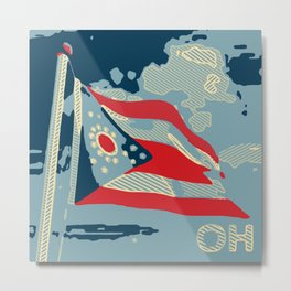The Ohio State Flag Metal Print