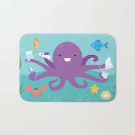 Under the Sea Octopus and Friends Bath Mat