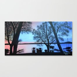 Buffalo lake at night Canvas Print