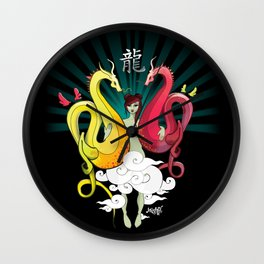 Year Of The Dragon Wall Clock