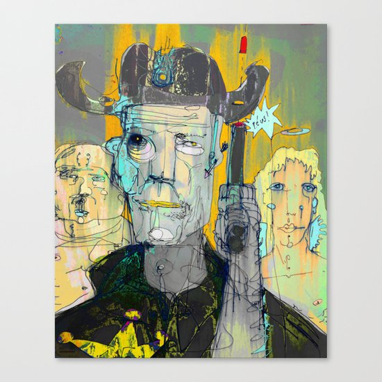 The Good, The Bald & The Ugly Canvas Print
