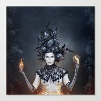 witchcraft Canvas Prints featuring WITCHCRAFT by Robert Palmer