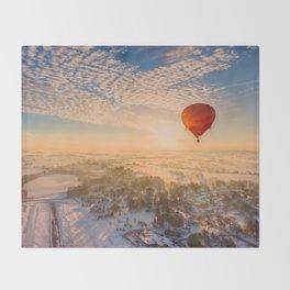 Floating Sunrise Throw Blanket